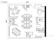 重庆巴南万达广场2室1厅1卫64平方米户型图