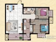 行宫・御东园2室2厅1卫100平方米户型图