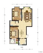 华建新城2室2厅1卫97平方米户型图