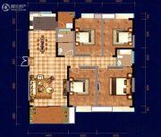 中天・宝电馨城4室2厅2卫156平方米户型图