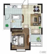 富城湾1室1厅1卫57平方米户型图