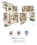 君悦海湾5室2厅5卫337平方米户型图
