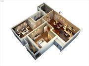 宿迁中央广场2室2厅1卫98平方米户型图