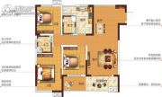 塞纳国际3室2厅2卫124平方米户型图