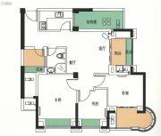霞浦金顶国际3室2厅1卫89平方米户型图