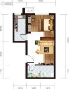 宏府・麒麟山1室1厅1卫48平方米户型图