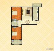 金色漫城2室2厅1卫95平方米户型图