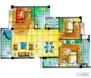 华英・翠湖居3室2厅1卫100--140平方米户型图