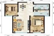 永新华・世界湾2室2厅1卫106平方米户型图