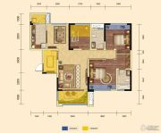 锦汇城3室2厅2卫108平方米户型图