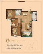 东鲁凤凰上郡3室2厅1卫106平方米户型图