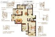 嘉洲灏庭3室2厅1卫108平方米户型图