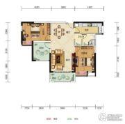 中核・半岛城邦2室2厅1卫100平方米户型图