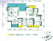 悦湖苑4室2厅2卫0平方米户型图