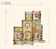 黄岩中梁香缇公馆3室2厅2卫123平方米户型图