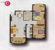 欧典・宏峪2室2厅1卫106平方米户型图