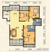 海德公园3室2厅2卫111平方米户型图