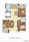 理想城3室2厅1卫123平方米户型图