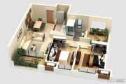 世茂香槟湖3室2厅2卫85平方米户型图