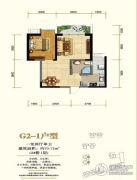 锦丽花语1室2厅1卫70平方米户型图
