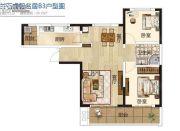 兰石睿智名居2室2厅1卫95平方米户型图