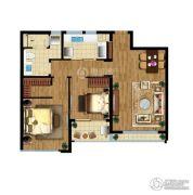 翠屏诚园2室2厅1卫85平方米户型图