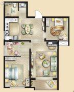 荣民宫园中央3室2厅1卫106平方米户型图