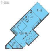 海南富力湾1室1厅1卫55平方米户型图