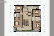 花样年香�T第4室2厅2卫125平方米户型图