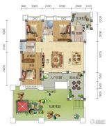 宏信依山郡3期4室2厅2卫153平方米户型图