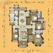 铂雅苑4室2厅4卫410平方米户型图