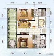 龙光阳光海岸2室2厅2卫130平方米户型图
