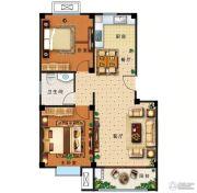 盛世康城四期・鑫园2室2厅1卫91平方米户型图