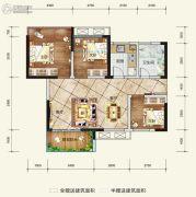 希望・玫瑰园3室2厅1卫73平方米户型图
