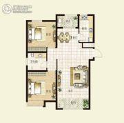 华明星海湾2室2厅1卫99平方米户型图