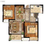 天地源拾锦香都2室2厅1卫86平方米户型图