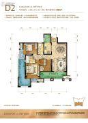龙湖拉特芳斯3室2厅2卫95平方米户型图