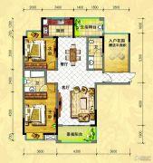 中央新城2室2厅2卫123--125平方米户型图