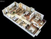紫薇・睿纳时代3室2厅2卫94平方米户型图