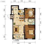 五矿・弘园2室2厅1卫92平方米户型图