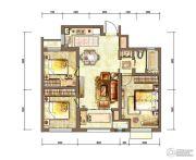 新城香溢紫郡3室2厅1卫88平方米户型图