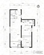 当代MOMA沿湖城2室2厅1卫85平方米户型图