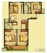 泰盈八千里3室2厅1卫114平方米户型图