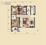 荣民宫园中央3室2厅2卫125平方米户型图