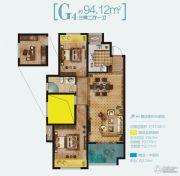 路劲・诺丁山3室2厅1卫94平方米户型图