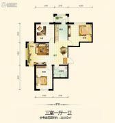 宇光万和城3室1厅1卫0平方米户型图