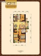 荷园丽都3室2厅2卫124--131平方米户型图