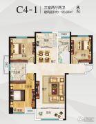 空港新城3室2厅2卫126平方米户型图