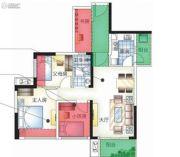 城市空间4室2厅1卫0平方米户型图