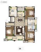 九龙仓碧堤半岛3室2厅2卫142平方米户型图
